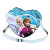 Bolsa Tiracolo Coração 20 cm Disney Frozen Forever Blue