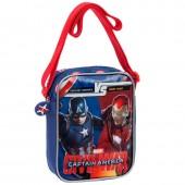 Bolsa tiracolo Marvel Iron Man vs Capitão América