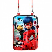 Bolsa Tiracolo tablet Ladybug e Cat Noir
