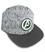 Boné Premium Avengers Cinza