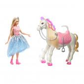 Boneca Barbie e Cavalo Princess Adventure