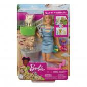 Boneca Barbie Hora do Banho Animaizinhos