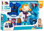 Boneca de Trapos Médica e Polícia Lily & Fun Molto