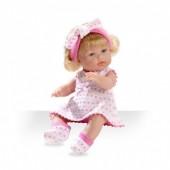 Boneca Elegance 33 cm Lacinhos Rosa