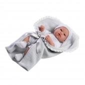 Boneca Elegance Real Baby Cinza 42 cm