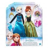 Bonecas Elsa e Ana Frozen - Festa de Coroação