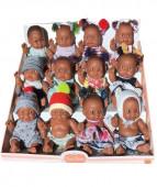 Bonecos Africanos Pequenos Paola 22cm Sortido