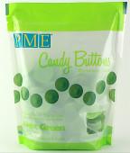 Botões Doces Verde Claro Chocolate Pastilha 340g