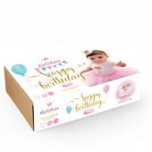 Box Happy Birthday Tutu + Body + Coroa Gold