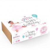 Box Happy Birthday Tutu + Body + Coroa Silver