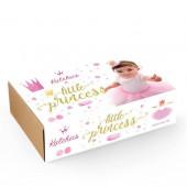 Box Little Princess Tutu + Coroa Gold - 3 Anos