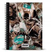 Caderno A4 30 cm Liga da Justiça DC Comics