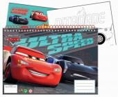 Caderno A4 Cars + Autocolantes