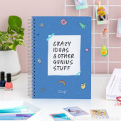 Caderno A4 Crazy Ideas...Mr.Wonderful