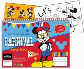 Caderno A4 Mickey + Autocolantes