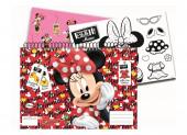 Caderno A4 Minnie + 24 Autocolantes + Pintura