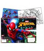 Caderno A4 Spiderman + Autocolantes