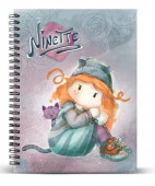Caderno A5 Ninette Forever 18x22x1.5cm.