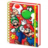 Caderno A5 Super Mario