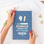 Caderno A5 Todos os Grandes Sonhos...Mr.Wonderful
