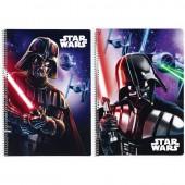 Caderno argolas Star Wars Saga Disney A4 - sortido