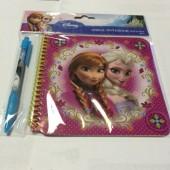 Caderno + caneta Frozen