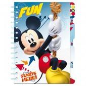 Caderno com divisórias Mickey Disney