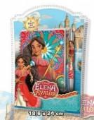 Caderno escolar + caneta de Elena De Avalor