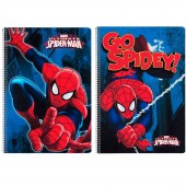 Caderno espiral A4 Spiderman Marvel Action - Sortido