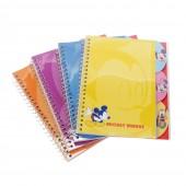 Caderno espiral Disney - Sortido