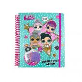 Caderno LOL Surprise com atividades