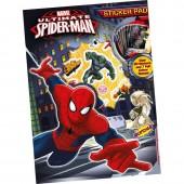 Caderno pintar + autocolantes Spiderman