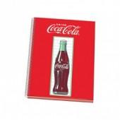 Caderno quadriculado A4 Coca Cola