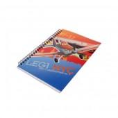 Caderno Quadriculado A4 Espiral Dusty Planes Aviões Leg1 NYC