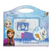 Caderno Stencils Estilista Frozen