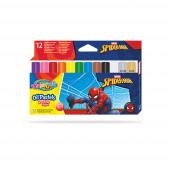 Caixa 12 Cores Óleo Pastel Spiderman Colorino