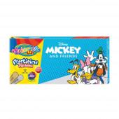 Caixa 12 Cores Plasticina Mickey Colorino