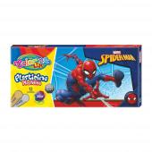 Caixa 12 Cores Plasticina Spiderman Colorino