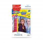 Caixa 12 Lápis + 1 Cor Frozen 2 Colorino