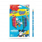 Caixa 12 Lápis + 1 Cor Mickey Colorino