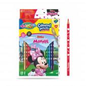 Caixa 12 Lápis + 1 Cor Minnie Colorino