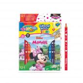 Caixa 12 Lápis + 1 Jumbo Minnie Colorino