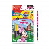 Caixa 12 Lápis 24 Cores Minnie Colorino