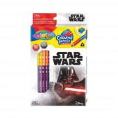 Caixa 12 Lápis 24 Cores Star Wars Colorino