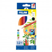Caixa 12 Lápis de Cor Milan macio