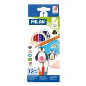 Caixa 12 Lápis de Cor Milan