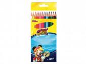 Caixa 12 Lápis Mickey Super Pilotos