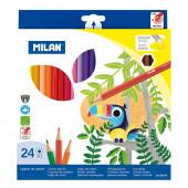 Caixa 24 Lápis de Cor Milan macio