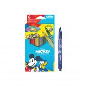Caixa 6 Marcadores Metálicos Mickey Colorino