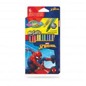 Caixa 6 Marcadores Metálicos Spiderman Colorino